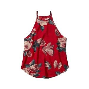 Abercrombie & Fitch Alicia Tank Red Floral